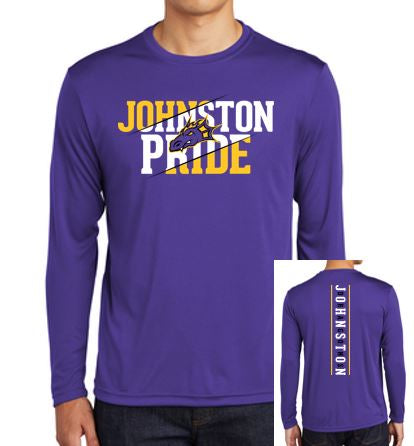 Spring PTO '20 - Youth/Adult Polyester Long Sleeve T'Shirt (Johnston Pride)