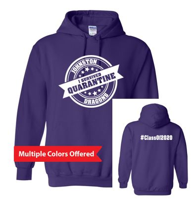 Summer PTO '20 - Youth/Adult Hooded Sweatshirt (I Survived Quarantine)