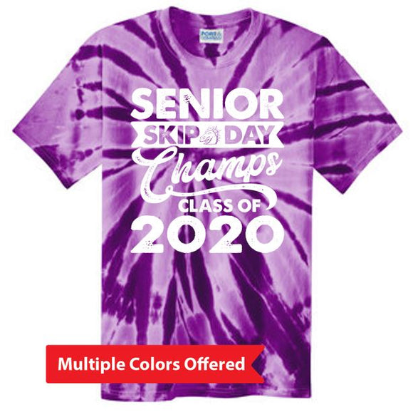Summer PTO '20 - Adult Tie-Dye T-Shirt (White Senior Skip)