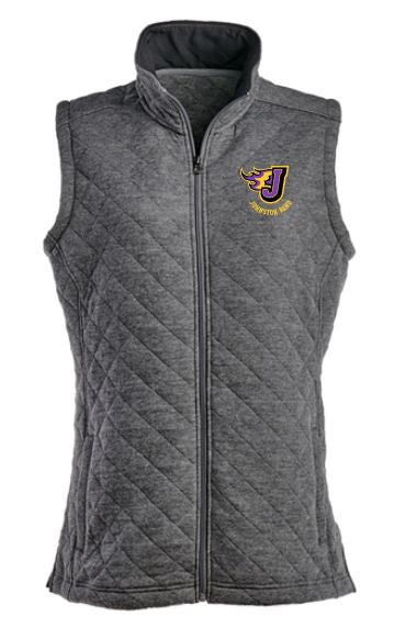Johnston Band - Ladies Quilted Full-Zip Vest (Embroidery Design)