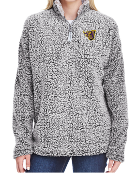 Fall PTO '20 - Girls/Ladies Sherpa Quarter-Zip Pullover (EMB)