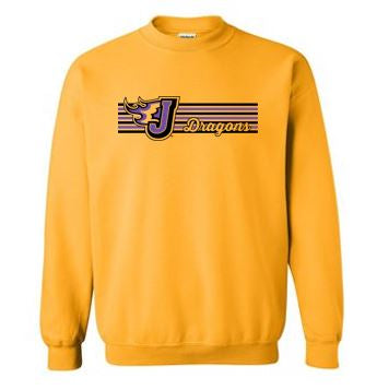 Fall PTO '20 - Adult Crewneck Sweatshirt (Stripe Design)