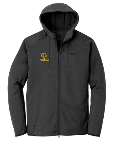 Johnston Football '20 - Adult/Unisex Nike Textured Fleece Full-Zip Hoodie (Flying J)