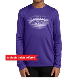Johnston Football '20 - Youth Long Sleeve T-Shirt (White Football Design)