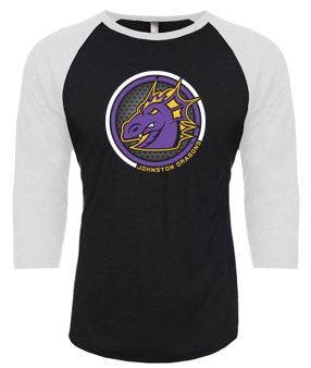 Spring PTO 2021 - Youth/Adult Three-Quarter Sleeve Baseball T-Shirt (Circle Design)