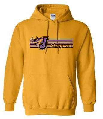 Fall PTO '20 - Adult Hooded Sweatshirt (Stripe Design)