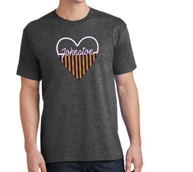CLOSEOUT - Johnston Heart Tshirt (Youth/Adult)
