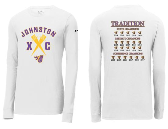 Johnston Cross Country Traditions - Unisex Nike Core Cotton Long Sleeve T-Shirt