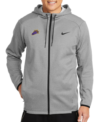 CLOSEOUT - Dragon Head Embroidery Unisex Nike Textured Fleece Full-Zip Hoodie