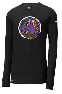Spring PTO 2021 - Unisex Nike Dri-FIT Cotton/Poly Long Sleeve T-Shirt (Circle Design)