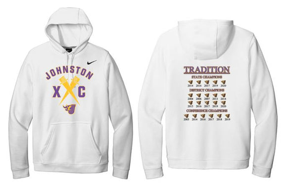 Johnston Cross Country Traditions - Unisex Nike Fleece Hooded Pullover Sweatshirt