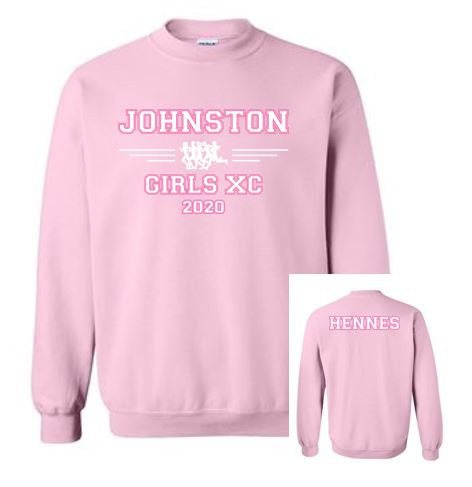 Johnston Cross Country '20 - Adult Crewneck Sweatshirt
