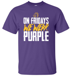 JCSD - On Fridays We Wear Purple Unisex Tshirt (Dragon Head Design)