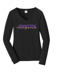 Spring PTO 2021 - Ladies Long Sleeve V-Neck (Dragons Script)