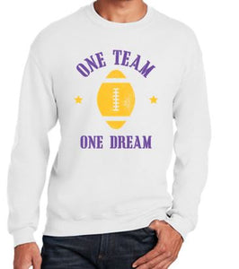 Johnston Football '20 - Youth/Adult Crewneck Sweatshirt (One Team One Dream)