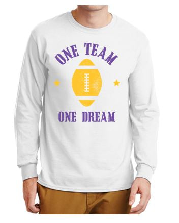 Johnston Football '20 - Unisex/Adult Long Sleeve T-Shirt (One Team One Dream)