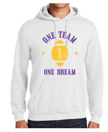Johnston Football '20 - Adult Hooded Sweatshirt (One Team One Dream)
