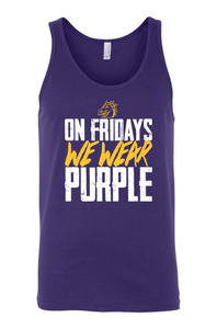 JCSD - On Fridays We Wear Purple Unisex Tank Top (Dragon Head Design)
