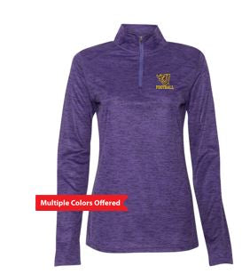 Johnston Football '20 - Ladies Quarter-Zip Pullover (Flying J)