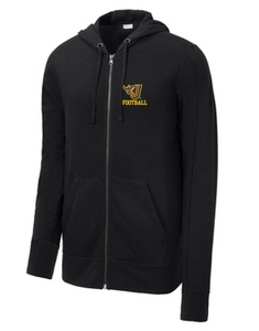 Johnston Football '20 - Adult/Unisex Tri-Blend Full-Zip Hoodie (Flying J)