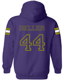 Johnston Football '20 - Adult PERSONALIZED Name/Number Hooded Sweatshirt (Mom Design - Glitter)