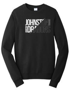 JCSD - Mens/Unisex Fan Favorite Crewneck Sweatshirt in Multiple Colors (Slant Johnston Dragons)