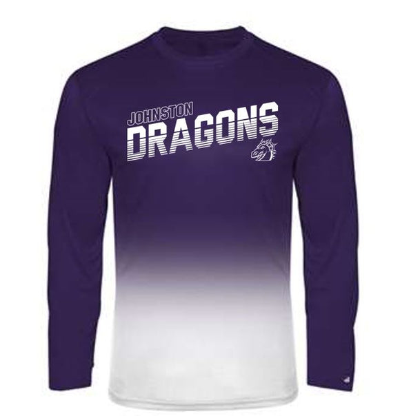 Spring PTO '20 - Youth/Adult Polyester Ombre Long Sleeve T'Shirt (Diagonal)