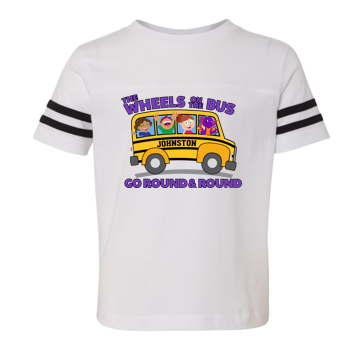 JCSD - Wheels on the Bus Football Jersey Tshirt (Toddler/Youth)
