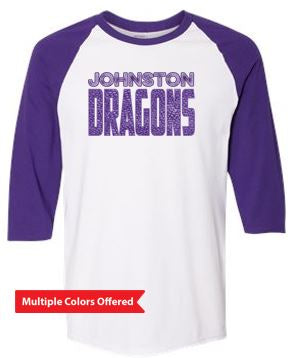 Fall PTO '20 - Adult Raglan Three-Quarter Sleeve T-shirt (Dragon Scales)