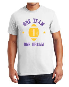 Johnston Football '20 - Unisex/Adult 100% Cotton T-Shirt (One Team One Dream)