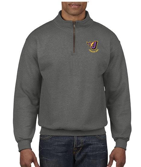 Johnston Band - Adult Comfort Colors Quarter Zip Sweatshirt (Embroidery Design)
