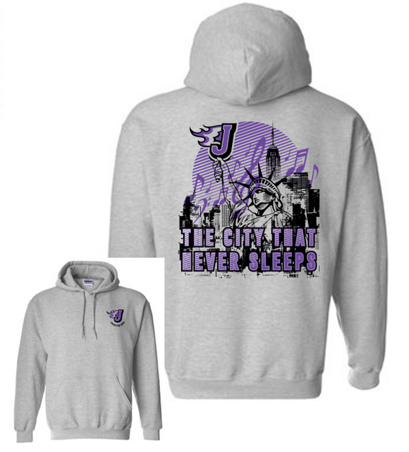 Johnston Band - Adult/Unisex Hooded Sweatshirt (City Design)