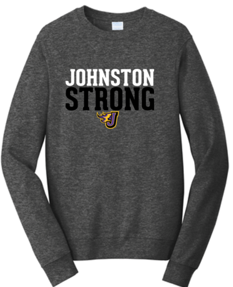 Winter PTO 19 - Johnston Strong Dark Grey Heather Crewneck Sweatshirt (Adult/Unisex)