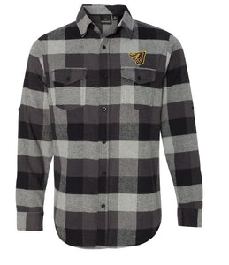 Winter PTO '20 - Adult/Unisex Black/Grey Long Sleeve Flannel (EMB)