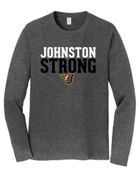 Winter PTO 19 - Johnston Strong Dark Heather Grey Long Sleeve Tshirt (Youth/Adult)