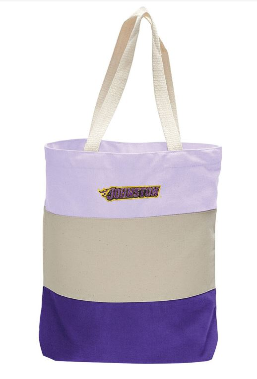 JCSD - Johnston 12oz Canvas Tri-Color Tote Bag