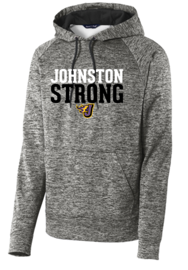 Winter PTO 19 - Johnston Strong Black Electric Polyester Hooded Sweatshirt (Youth/Adult)