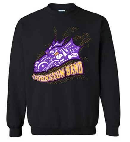 Johnston Band - Adult 50/50 Crewneck Sweatshirt in Multiple Colors (Head Design)