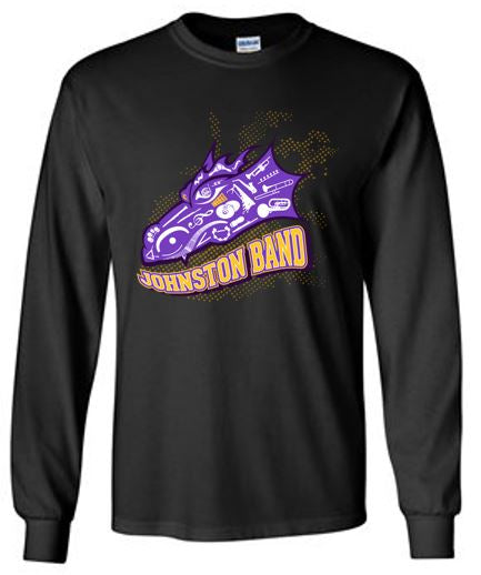 Johnston Band - Adult 100% Cotton Long Sleeve Tee in Multiple Colors (Head Design)