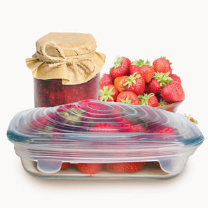 Reusable Food and Container Lids (6 Pieces) - FREE SHIPPING