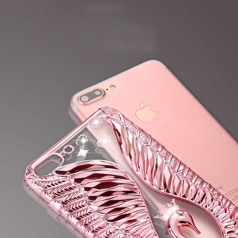 【FREE 40mm Apple strap】New Swan Love 3D Case For Apple Phone