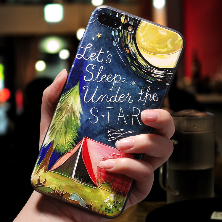 2019 New idea Three-dimensional embossed phone case