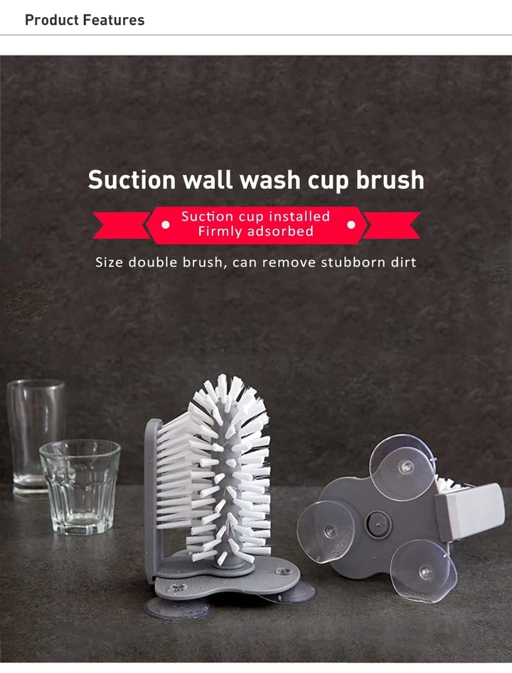 ⚡CLEAN YOUR CUP QUICKLY! SUCTION CUPS CLEANER BRUSH