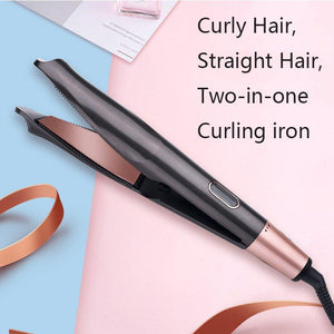 (Free Shipping Worldwide) 2 in 1 Hair Curler and Straightener