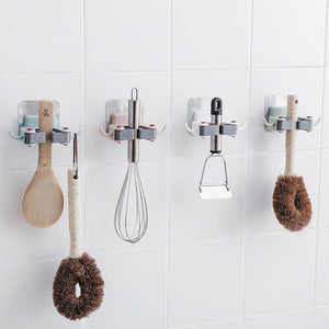Mop Broom Holder Wall Mount Organizer