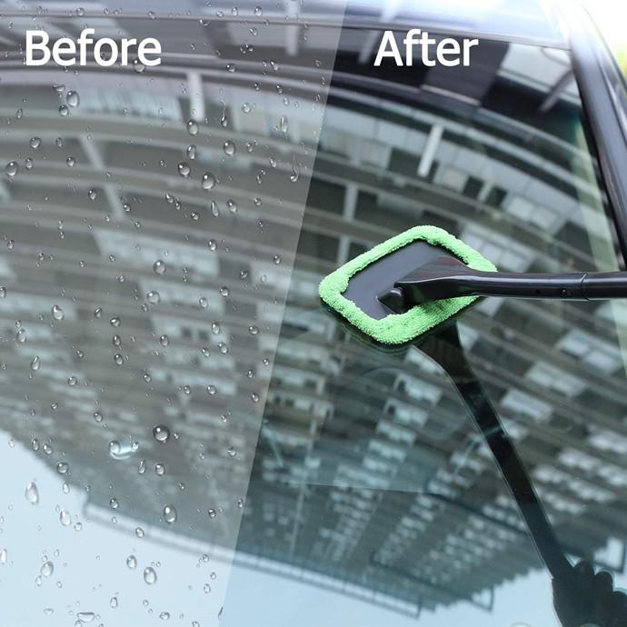 Microfiber Car Window Cleaner---Magical Car Ice Scraper Free Gift!