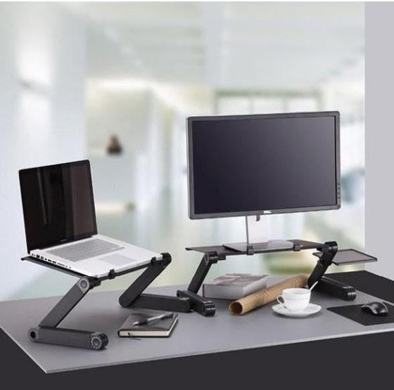 50%OFF Only Before Christmas Day -- 2020 New Adjustable Ergonomic Portable Aluminum Laptop Desk(Buy 2 Save Extra 20$)