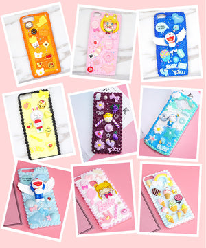 Apple phone case DIY free choice accessories(multiple choices)