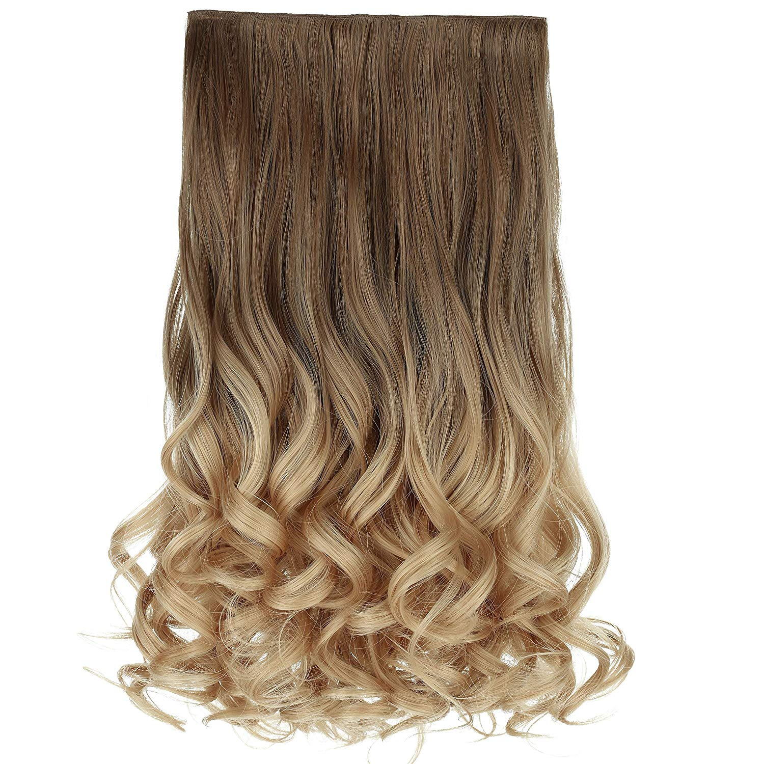 U-Part-Wig--3/4 Full Head Curly Wave Clips wig