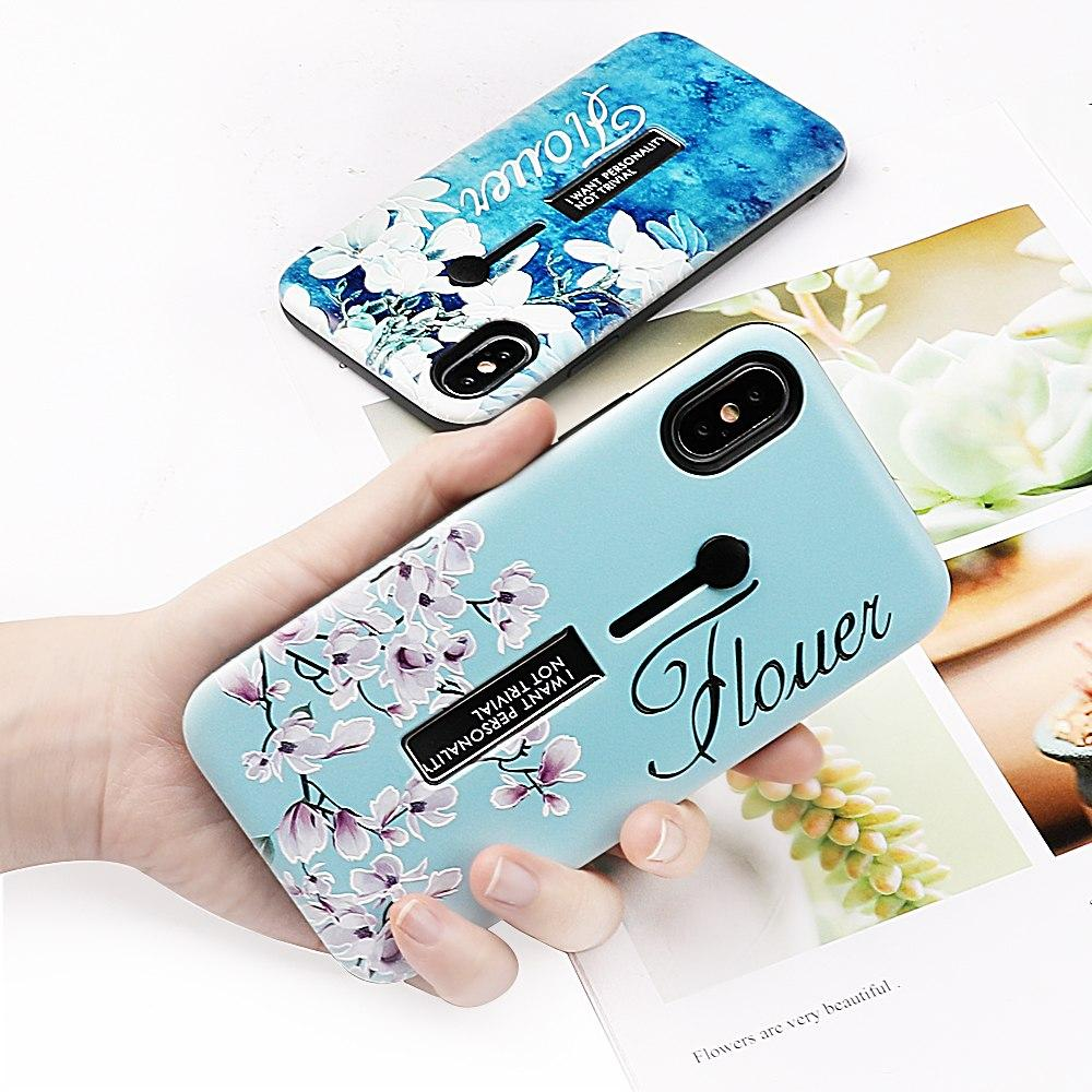 Blue Flower Love Case For iPhone【 FREE tempered film】